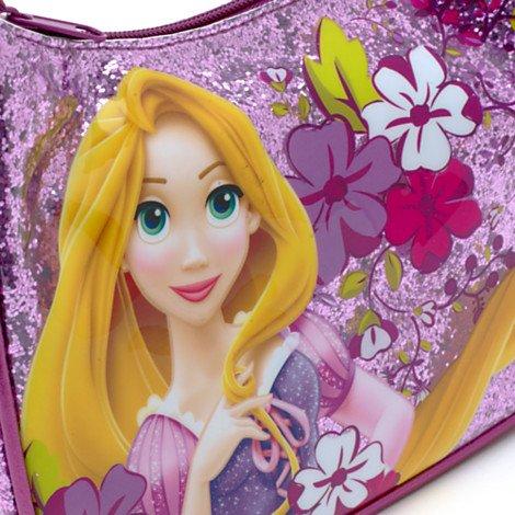 Autentica finitura Rapunzel Glitter Disney, borsa per ragazze / capretti