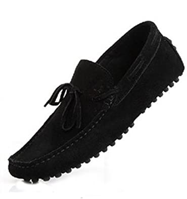 11bbcb404b9 HAPPYSHOP(TM New Mens Loafers Shoes Casual Suede Comfort Slip-on Tassel  Loafer Driving