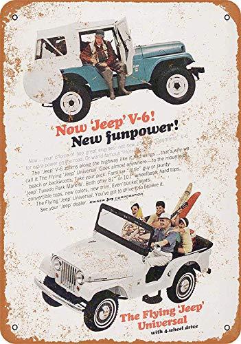 SRongmao 16 x 12 Tin Metal Sign - Vintage Look 1965 Kaiser Jeep Tuxedo Park Mark IV Bar Cafe Home Wall Art Deco