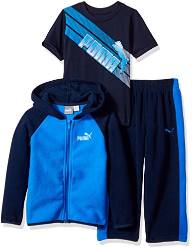 PUMA Boys' 3 Piece Hoodie & Graphic T-Shirt Set