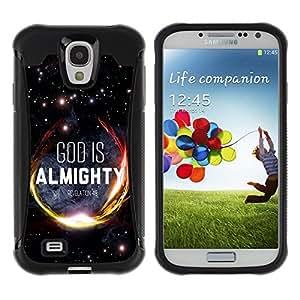 Suave TPU GEL Carcasa Funda Silicona Blando Estuche Caso de protección (para) Samsung Galaxy S4 IV I9500 / CECELL Phone case / / BIBLE God Is Almighty - Revelation 4:8 /