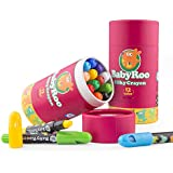 Jar Melo Silky Crayons-12 Colors Rotating Washable Non-Toxic 3 In 1 Effect(Crayon-Pastel-Watercolor); Coloring Gift for Adults and Kids; Art Tools; Twistables Slick Crayons; Big Size Crayons; Jumbo