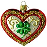 "Old World Christmas Lucky in Love, 3"" Glass Ornament"