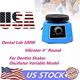 VPABES Dental Vibrator Round Shape Rubber Vibration Plate Equipment Medical Shaker Oscillator 100W