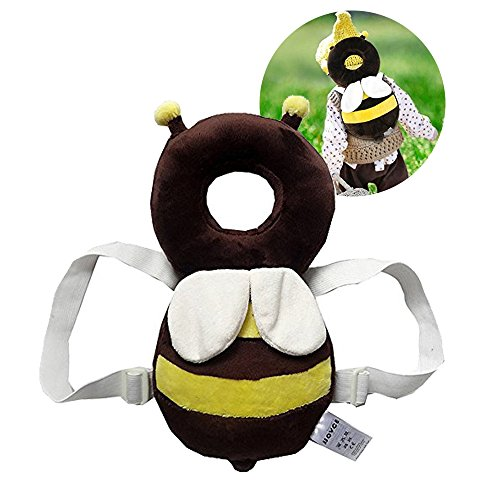 Baby Toddlers Head Protective, Adjustable Infant Safety Pads for Baby Walkers Protective Head and Shoulder Protector Prevent Head Injured Suitable Age 4-24 Months,Cute Ladybug (Yellow +White) (Guard Baby Head)