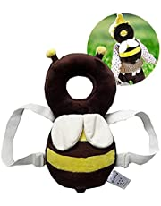 Baby Toddlers Head Protective, Adjustable Infant Safety Pads For Baby Walkers Protective Head and Shoulder Protector Prevent Head Injured Suitable Age 4-24 Months (Yellow+White)