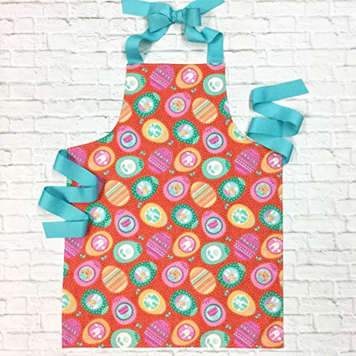 Colorful Egg Kitchen Art or Craft Apron Gift for Girls from Sara Sews, Inc.