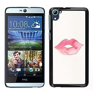 """Pulsar Snap-on Series Teléfono Carcasa Funda Case Caso para HTC Desire D826 , Labios del beso minimalistas Rosa"""""""