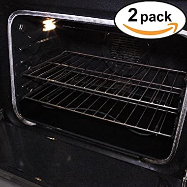 Stately Kitchen's Extra Durable Large Non Stick Teflon Oven Liners, Pan Liners and Cookie Sheets 17  x 25  2 Pack
