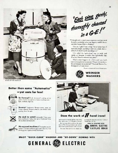 1950-ad-wringer-washer-flatplate-ironer-general-electric-ge-activator-machinery-original-print-ad