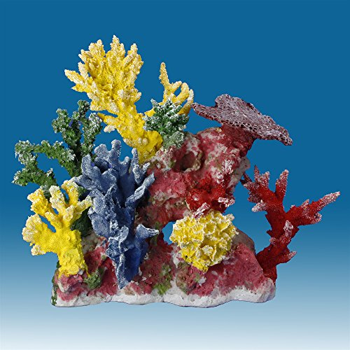 Instant Reef DM055 Artificial Coral Inserts Decor, Fake Coral Reef Decorations for Colorful Freshwater Fish Aquariums, Marine and Saltwater Fish Tanks