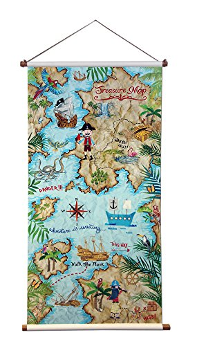 Arthouse Pirates Ahoy Collection Kids Scroll Decorative Wall Hanger by Arthouse