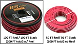 True 20 Gauge (American Wire Ga) 99.97% OFC stranded oxygen free copper, Red / Black 2 Conductor Bonded Zip Cord Power / Speaker Cable for Car Audio, Home Theater, LED Light. Choices of 50 or 100 FT