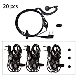 Baofeng Earpiece20pcs Mic Headset Earpiece Earphone 2 Pin for Baofeng Walkie Takie 2 Way Radio BF UV-5R/5RA/5RA+/5RB/5RC/5RD/5RE/5RE Plus/UV-82/BF-480/490/530/999/888/777/666S/777S/888S