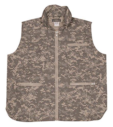 Outdoor Men's Multi Pocket Ranger/Stand Up Collar Vest