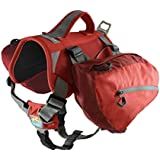 Kurgo Baxter Dog Backpack, Barn Red - Lifetime Warranty