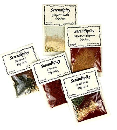 Serendipity Creamy Hot Dip Mix (Hot Variety Pack, 5 Dip Mixes) Creamy Salsa Dip