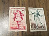 1953 French postage stamps of Figaro and