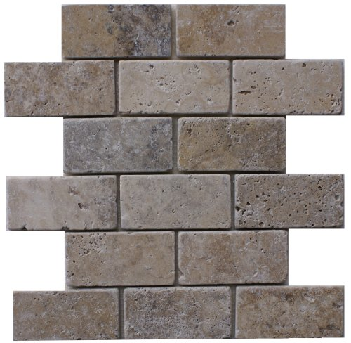 Epoch Tile PH2X4 2x4 Philadelphia Tumbled Travertine