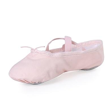 23b240dbc0f7 STELLE Girls Canvas Ballet Slipper/Ballet Shoe/Yoga Dance Shoe  (Toddler/Little