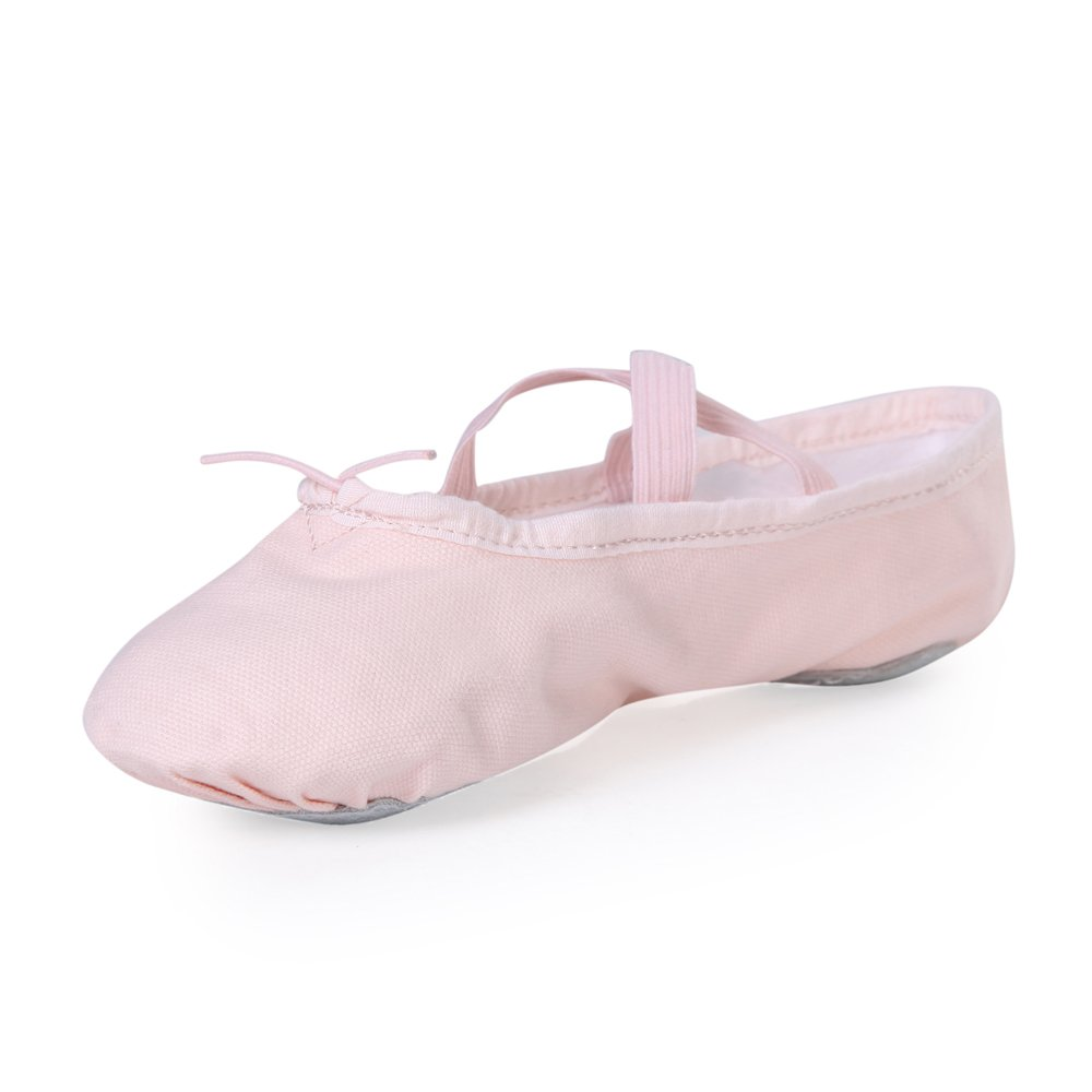 STELLE Girls Canvas Ballet Slipper/Ballet Shoe/Yoga Dance Shoe (Toddler/Little Kid/Big Kid/Women/Boy)(9M Toddler, Ballet Pink)