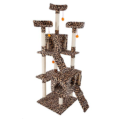 Chic Lovery 4289 Leopard Print Cat Tree Tower 72