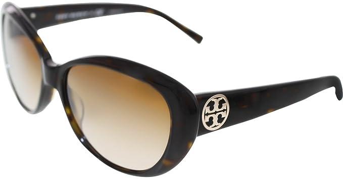 87e46ac9a5984 Amazon.com  Tory Burch Sunglasses TY7005 510 8 Tortoise Brown ...