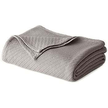 COTTON CRAFT - 100% Soft Premium Cotton Thermal Blanket - King Grey - Snuggle in These Super Soft Cozy Cotton Blankets - Perfect for Layering Any Bed - Provides Comfort and Warmth for Years