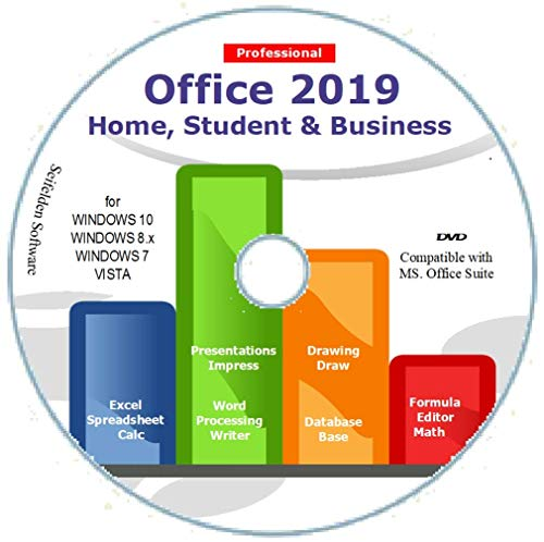 Office Suite 2019 Home Student and Business for Windows 10 8.1 8 7 Vista 32 64bit| Alternative to Office 2016 2013 2010 365 Compatible with Word Excel PowerPoint ⭐⭐⭐⭐⭐ ()