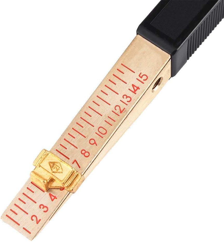 Range 1-15mm 0.5mm Xrten 1 Piece Jauge dEpaisseur /à Vernier Forme Cale 1~15mm Outil dInspection des Travaux