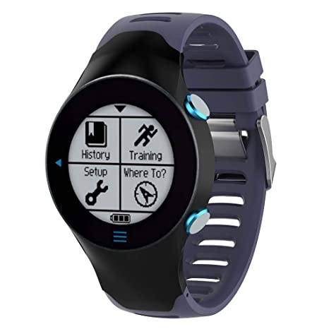 Karazhan - Correa de Reloj de Pulsera de Repuesto de Silicona para Reloj Garmin Forerunner 610
