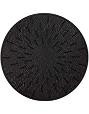 Lazy K Induction Cooktop Mat - Silicone Fiberglass Magnetic Cooktop Scratch Protector - for Induction Stove - Non slip Pads to Prevent Pots from Sliding during Cooking (7.8 inches) Black