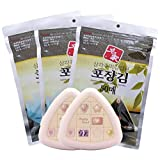 50 Sheets Onigiri Rice Ball Seaweed Wrappers × 3pack +2cases