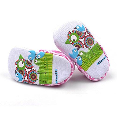 Goldore Baby Calientes muchachas de los muchachos zapatos infantiles del algodón suave Sole Resbalón-en talón elástico primeros caminante Zapatos 0-18M pájaro