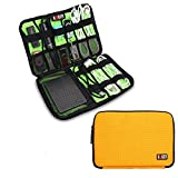 Bubm Universal Cable Organizer Electronics Accessories Case USB Drive Shuttle/ Healthcare & Grooming Kit (Dis Yellow- Medium)
