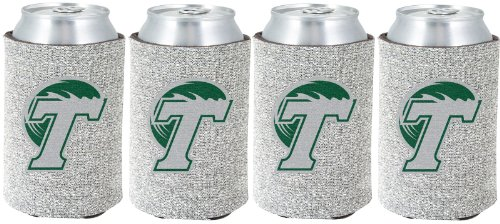 NCAA Tulane Green Wave Glitter Can Koosie (Pack of 4)