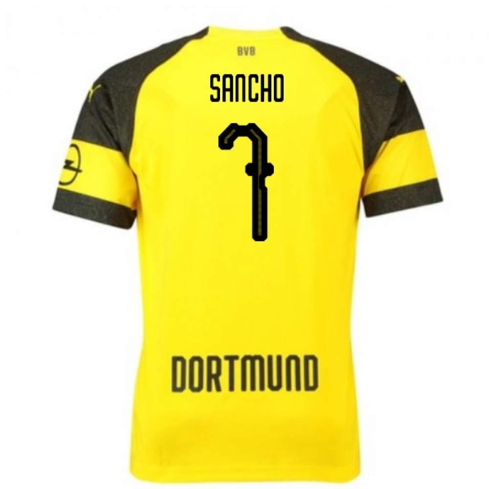 2018-2019 Borussia Dortmund Puma Home Football Soccer T-Shirt Trikot (Jadon Sancho 7) - Kids