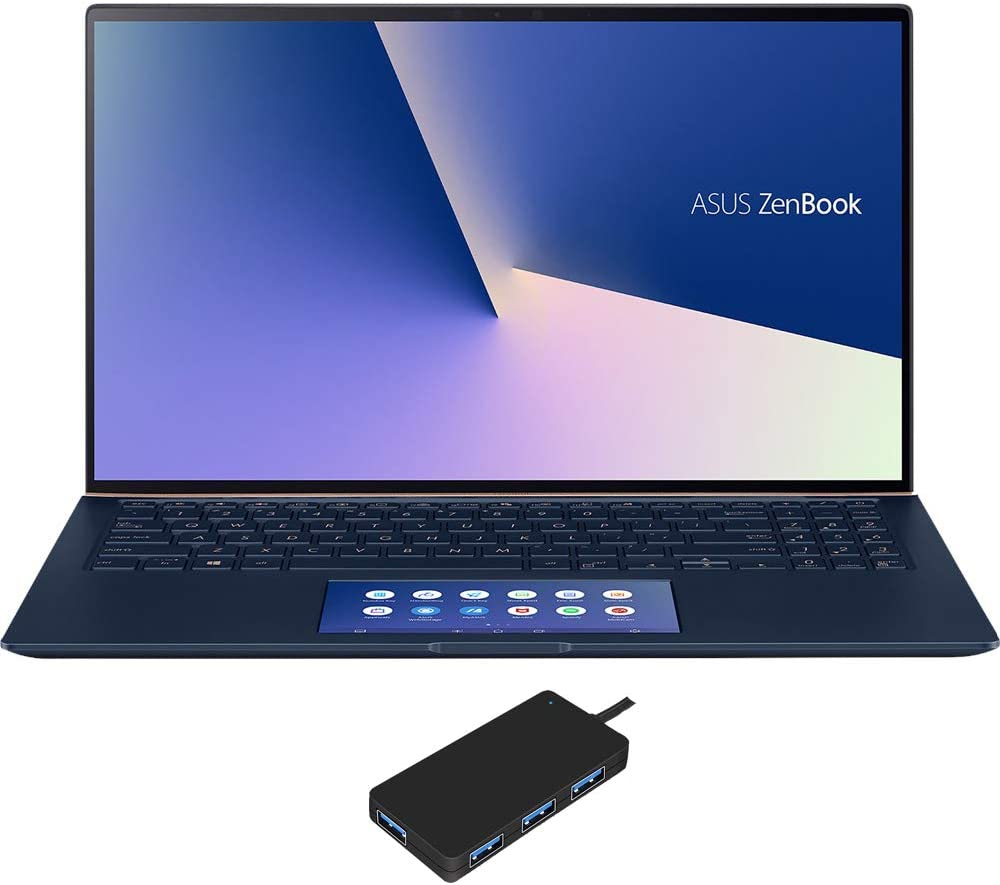 ASUS ZenBook 15 UX534FTC Home and Business Laptop (Intel i7-10510U 4-Core, 16GB RAM, 2TB PCIe SSD, NVIDIA GTX 1650 [Max-Q], 15.6
