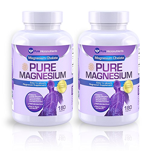 Pure Micronutrients Magnesium Supplements, 200mg, 180ct – Best Buy Value 2-Pack (2) Review