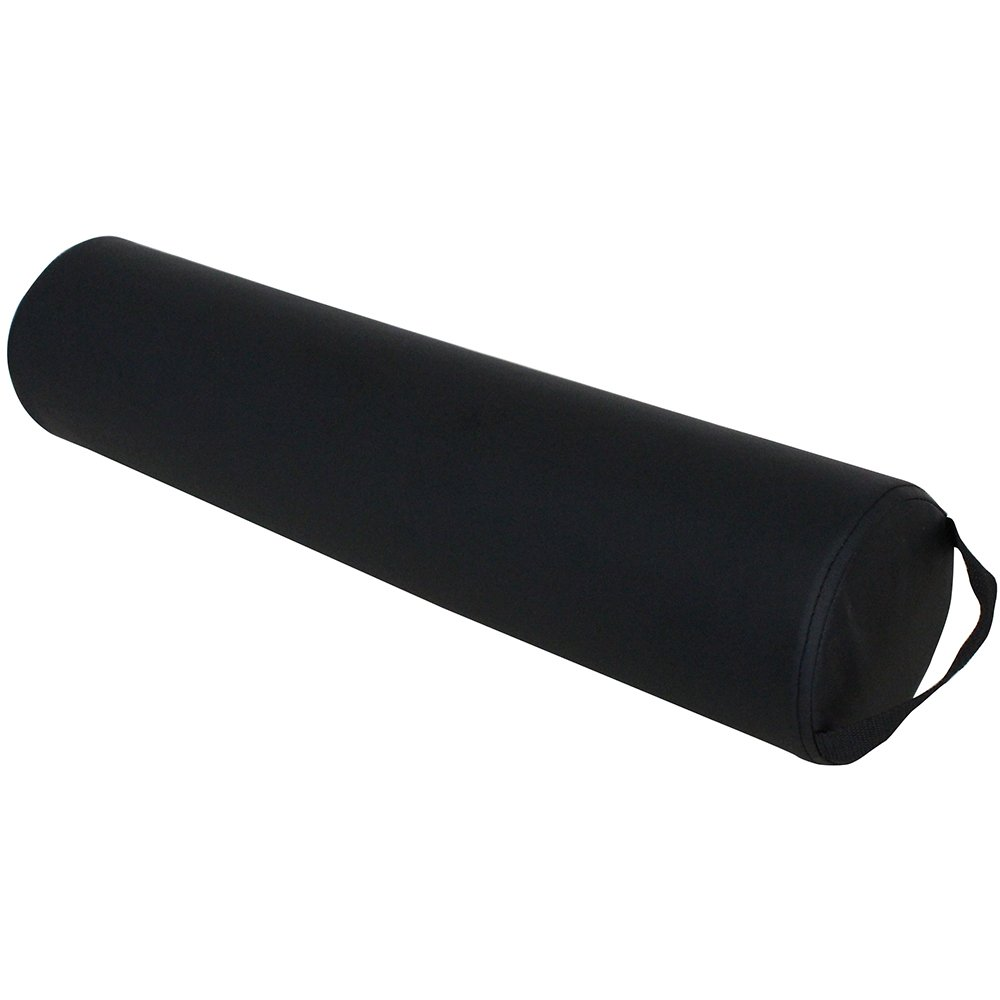"ForPro Full Round Bolster, Black, Oil and stain-resistant, for Massage and Yoga, 6"" R x 26"" L"