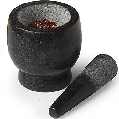 Sagler mortar and pestle set marble Black 4.7