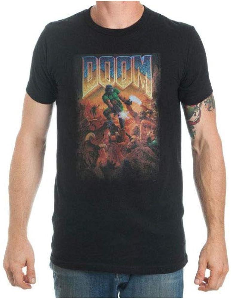 Doom Cover Art Men's Black T-Shirt