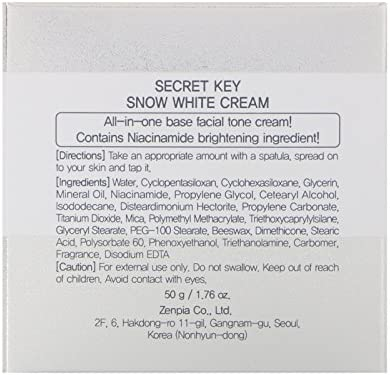 [SECRET KEY] Snow White Cream 1.76 fl. oz. - all-in-one Brightening tone up base cream from deep into skin, it recovers skin natural raddiance and brightness