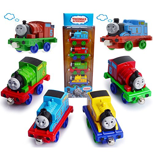 [Thomas & Friends Magnetic Tank Engine Railway Train Toys 4pcs Mini Train Set New] (Trevor Halloween Costume)