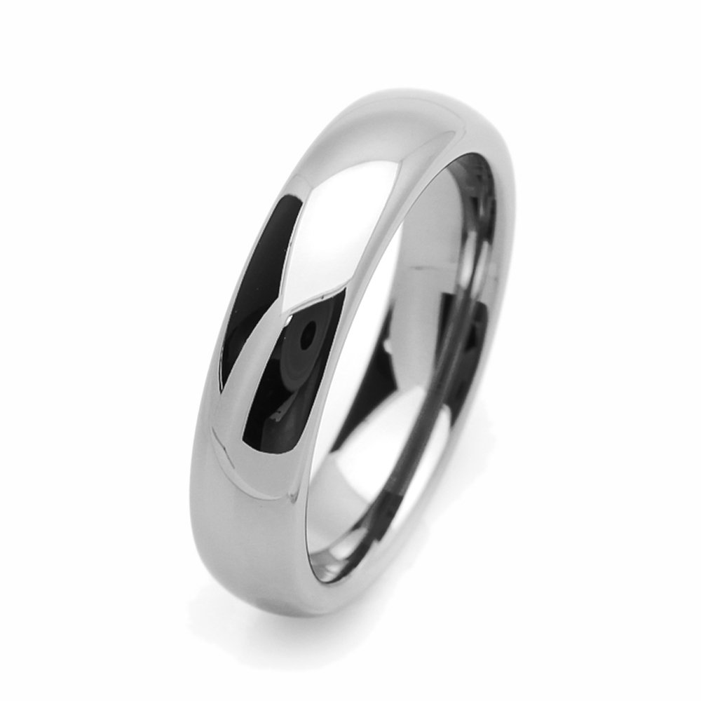 Double Accent Custom Engraving 5MM Comfort Fit Tungsten Wedding Band Classic Promise Ring