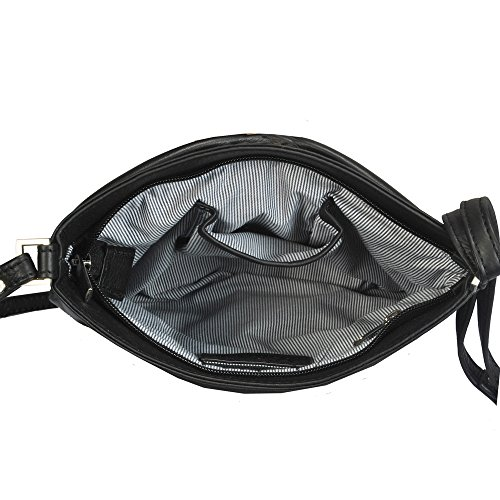 Vilenca 40355 Noir Sac à bandoulière pour les femmes - L26cmxH21cmxW2.5cm...