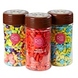 Wilton 2109-5998 Rosanna PANSINO Nerdy Nummies Fun Candy Sprinkles Set, Assorted