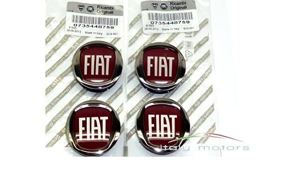 Original Fiat Punto/EVO Llanta Tapa Buje tapas - Lote de 4 tapacubos - 735448759: Amazon.es: Coche y moto