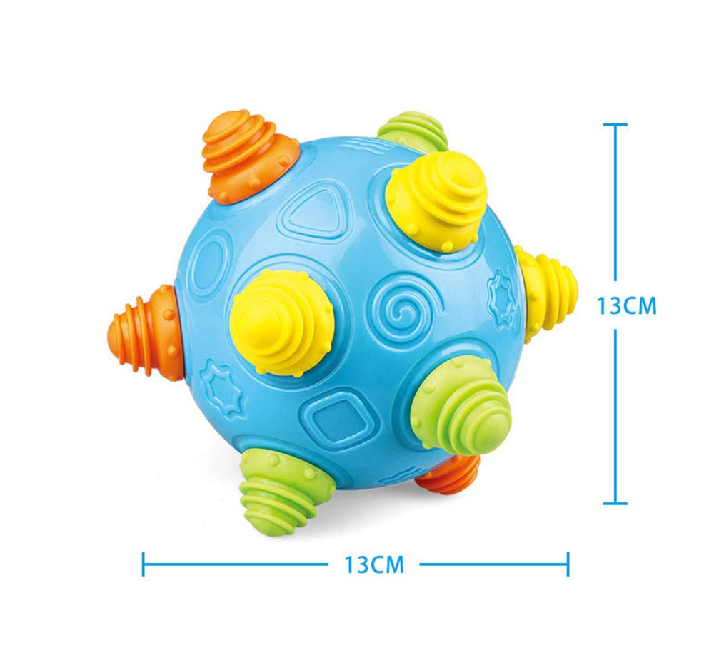 QHTOY DHSM Baby Music Shake Dancing Ball Toy Free Jumping Bouncing Vibrating Ball for Toddler Sensory Developmental Toy