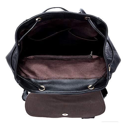 À M Pour Capacité Sacs Femme Dos Black En Cuir De Grande Casual Black color Voyage Size Fq1dd46Ewx